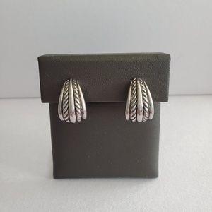 David Yurman Sterling Silver Cable Earrings